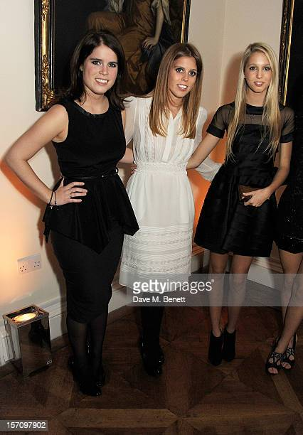 Princess Eugenie of York Princess Beatrice of York and Princess Maria Olympia of Greece attend a dinner celebrating the launch of 'Valentino Master...