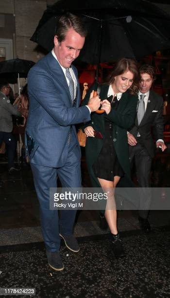 Princess Eugenie of York seen attending The Dior Sessions - book launch party at Dior Boutique on October 01, 2019 in London, England.