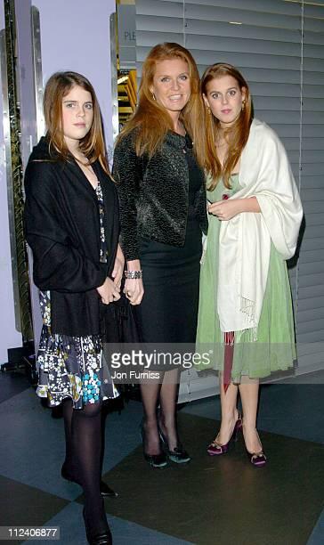 Princess Eugenie Sarah Ferguson Duchess of York and Princess Beatrice