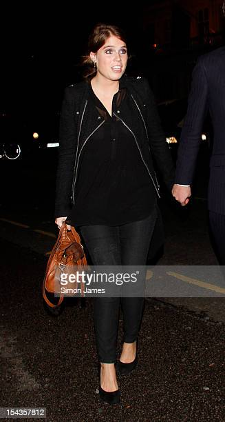 Princess Eugenie sightings on October 18 2012 in London England