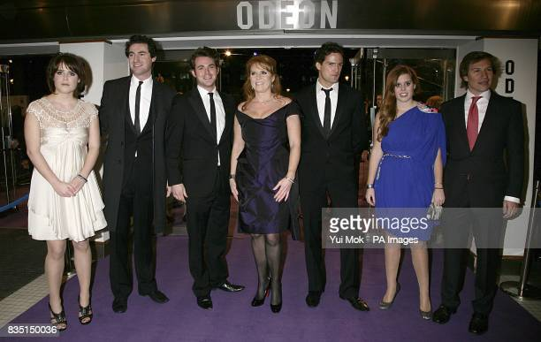 Princess Eugenie The Duchess of York Sarah Ferguson and Princess Beatrice arriving with vocal group Blake and Beatrice's boyfriend Dave Clarke for...