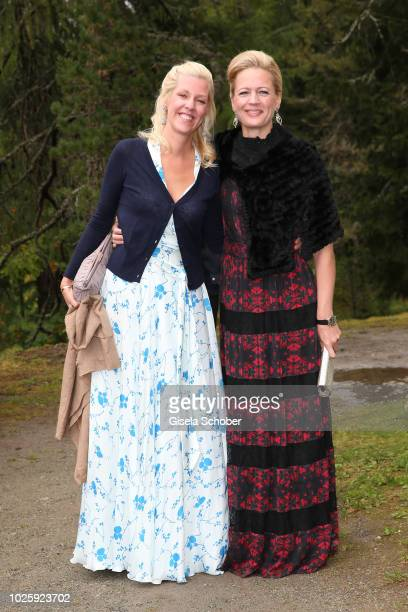 Princess Felipa of Bavaria sister of the Bridegroom and Princess Anna of Bavaria during the wedding of Prince Konstantin of Bavaria and Deniz Kaya at...