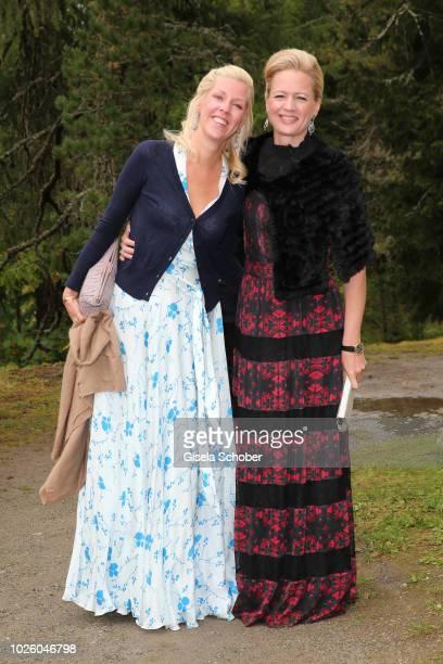 Princess Felipa of Bavaria sister of the Bridegroom and Princess Anna of Bavaria during the wedding of Prince Konstantin of Bavaria and Deniz Kaya at...