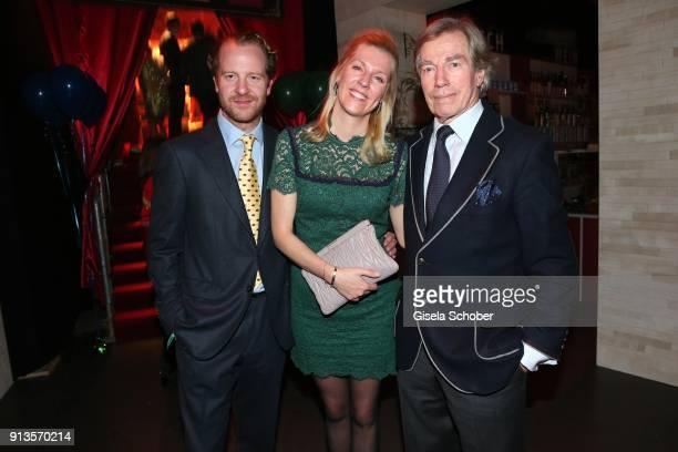 Princess Felipa von Bayern with her husband Christian Dienst and her father Prince Leopold von Bayern during Michael Kaefer's 60th birthday...
