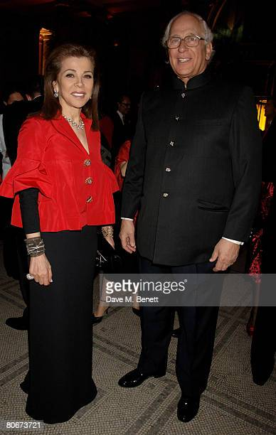 """Princess Firyal of Jordan and Evelyn de Rothschild attend the private view of """"Blood On Paper"""" at the Victoria and Albert Museum on April 14, 2008 in..."""