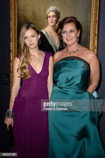 Princess Francesca von Habsburg and Archduchess Eleonore von Habsburg arrive at the 'Cartier Le Style et L'Histoire' Exhibition Private Opening at Le...