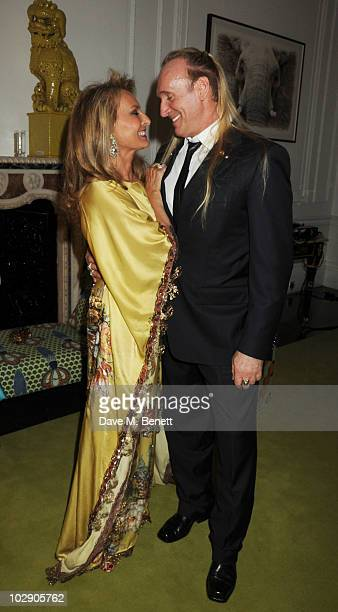 Princess Francoise Sturdza and husband Gregory David Roberts attend a fundraising dinner for The Zeitz Foundation on July 14 2010 in London England
