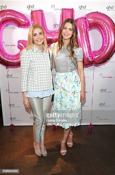 Princess Franziska zu SaynWittgensteinBerleburg and Laura Berlin pose during the ghd and DKMS Live Charity Event on June 8 2016 in Munich Germany