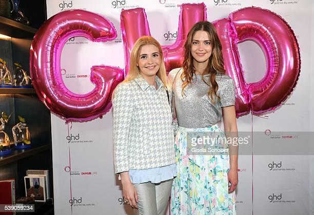 Princess Franziska zu SaynWittgensteinBerleburg and Laura Berlin during the ghd Life Pink Charity Lunch on June 8 2016 in Munich Germany