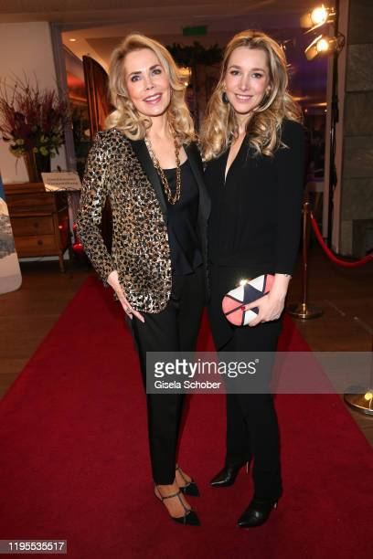 Princess Gabriele of Leiningen and her daughter Princess Theresa of Leiningen during the Schwarzenegger climate initiative charity dinner prior the...