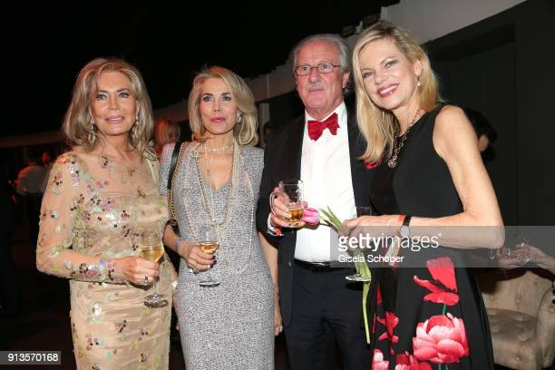 Princess Gabriele zu Leiningen and her mother Renate ThyssenHenne and Dr Wolfgang Reitzle and his wife Nina Ruge during Michael Kaefer's 60th...