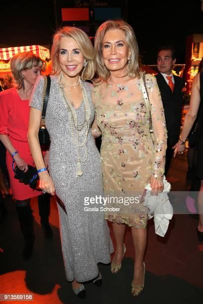 Princess Gabriele zu Leiningen and her mother Renate ThyssenHenne during Michael Kaefer's 60th birthday celebration at Postpalast on February 2 2018...