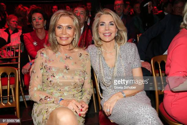 Princess Gabriele zu Leiningen and her mother Renate ThyssenHenne during Michael Kaefer's 60th birthday celebration at Postpalast on February 2 2018...
