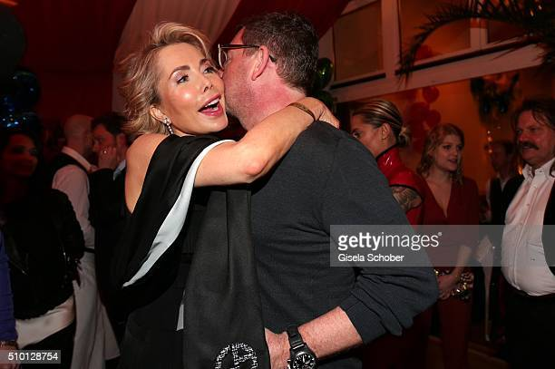 Princess Gabriele zu Leiningen and Kai Diekmann during the Bild 'Place to B' Party at Borchardt during the 66th Berlinale International Film Festival...