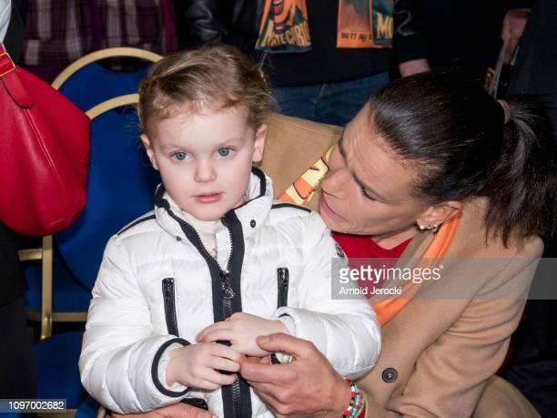 Princess Gabriella and Princess Stephanie of Monaco attend the 43rd International Circus Festival of MonteCarlo on January 20 2019 in Monaco Monaco