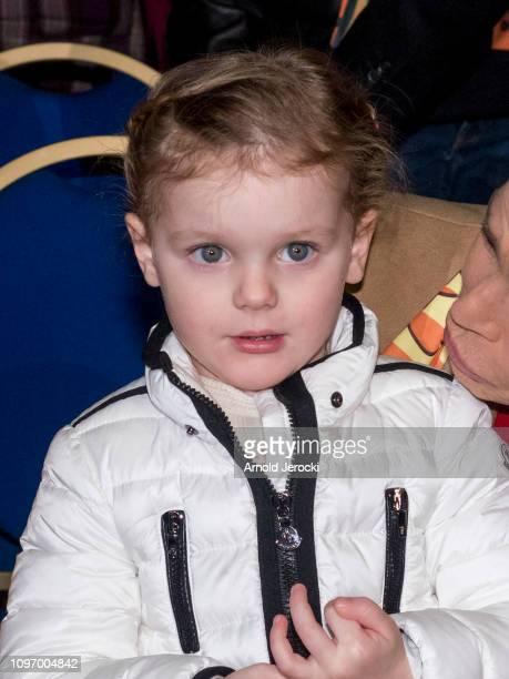 Princess Gabriella attend the 43rd International Circus Festival of MonteCarlo on January 20 2019 in Monaco Monaco