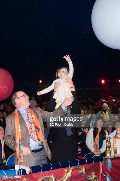 Princess Gabriella of Monaco and Prince Albert II of Monaco attend the 43rd International Circus Festival of Monte-Carlo on January 20, 2019 in...