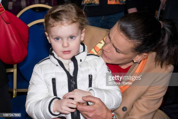Princess Gabriella of Monaco and Princess Stephanie of Monaco attend the 43rd International Circus Festival of MonteCarlo on January 20 2019 in...