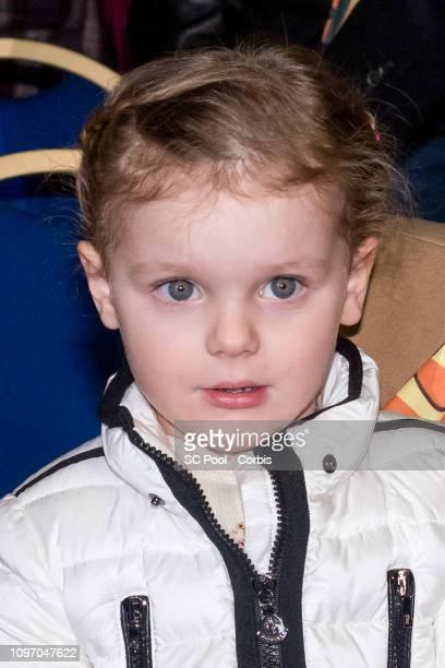 Princess Gabriella of Monaco attends the 43rd International Circus Festival of MonteCarlo on January 20 2019 in Monaco Monaco