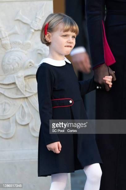 Princess Gabriella of Monaco attends the celebrations marking Monaco's National Day at the Monaco Palace, on November 19, 2020 in Monte-Carlo, Monaco.