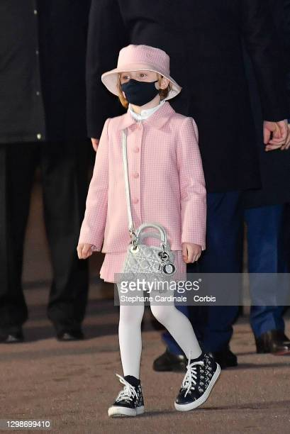Princess Gabriella of Monaco attends the Sainte Devote Ceremony. Sainte devote is the patron saint of The Principality Of Monaco and France's...