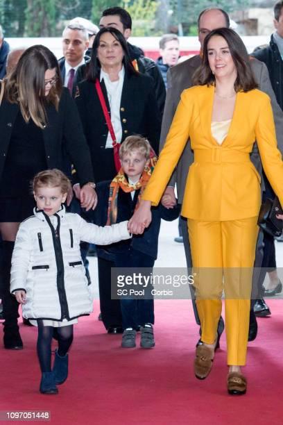 Princess Gabriella of Monaco Prince Jacques of Monaco and Pauline Ducruet attend the 43rd International Circus Festival of MonteCarlo on January 20...