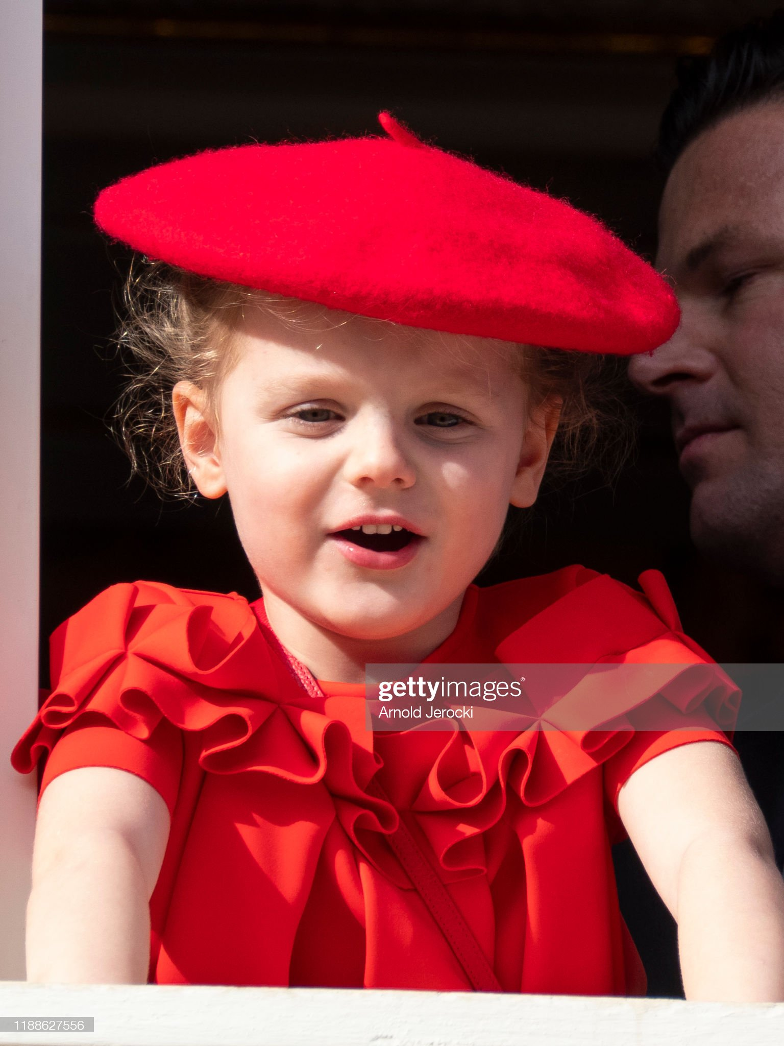 princess-gabriella-of-monaco-stand-at-the-palace-balcony-during-the-picture-id1188627556
