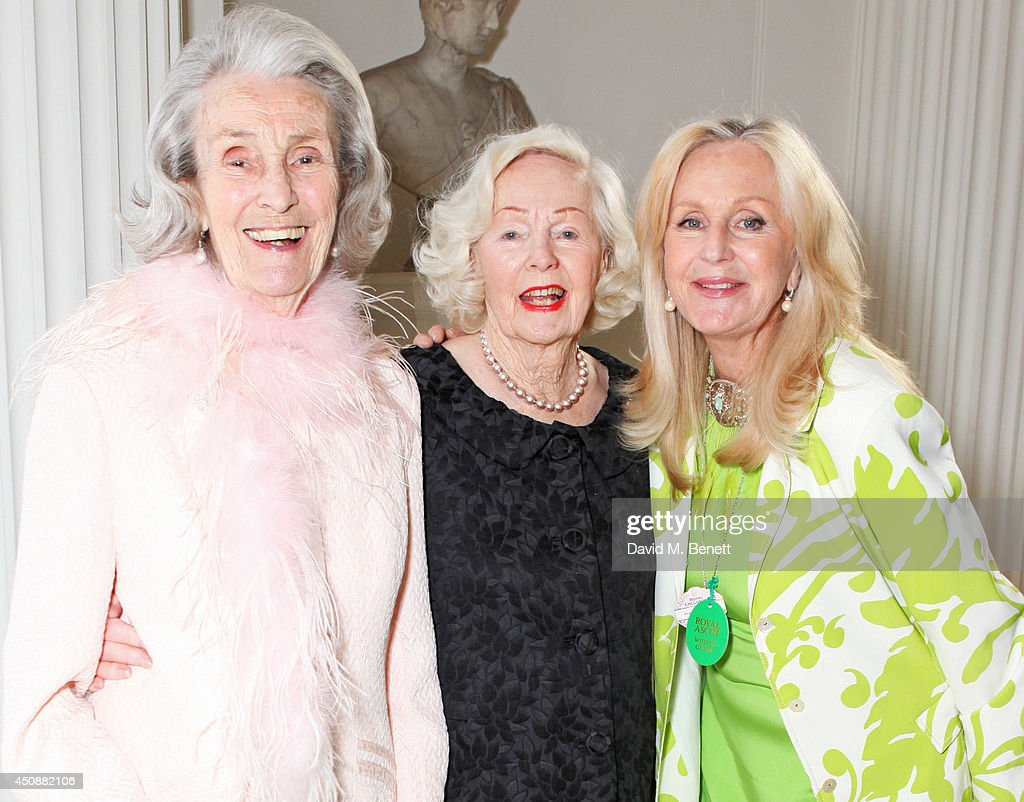 Princess George Galitzine, Peggy Cummins and Liz Brewer attend the drinks reception hosted by Dockers, the San Francisco based apparel brand, at Kensington Palace on the eve of 'Dockers Flannels For Heroes' cricket match on June 19, 2014 in London, England.