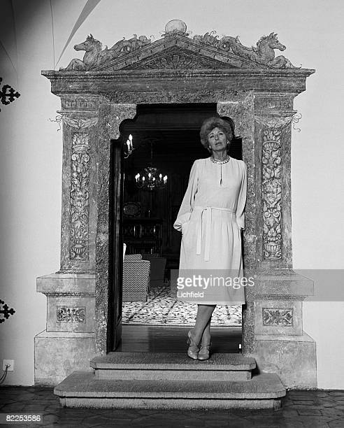 HH Princess Gina of Liechtenstein photographed at her home Vaduz Castle on 7th February 1979