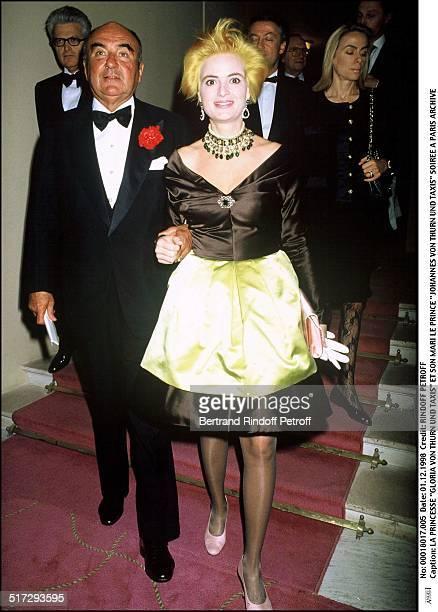 Princess Gloria Von Thurn Und Taxis and her husband Prince Johannes Von Thurn Und Taxis party in Paris
