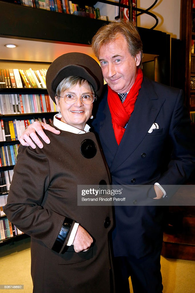 Princess Gloria Von Thurn und Taxis and Tim Jefferies attend Princess Gloria Von Thurn und Taxis signs her Book 'The House of Thurn und Taxis'. Held at Librairie Galignani on January 25, 2016 in Paris, France.