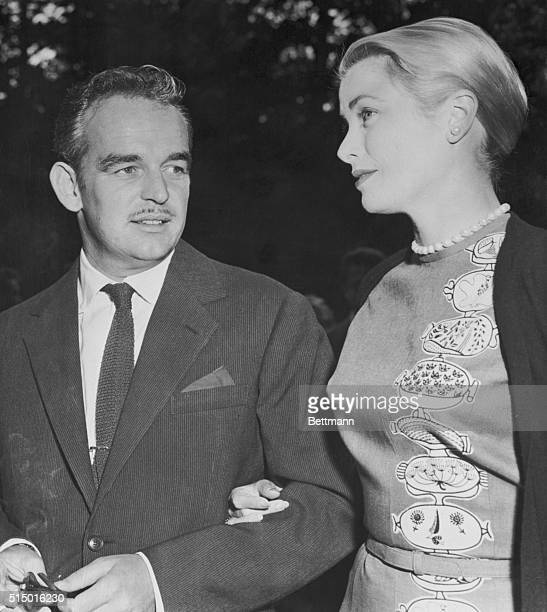 Princess Grace and Rainier in Paris. Paris, France: Prince Rainier III of Monaco and his American princess bride, Grace Kelly, are shown as they...