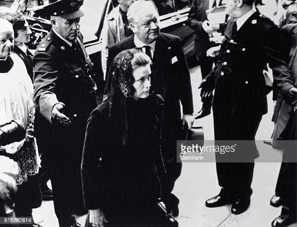 Princess Grace at Funeral Dublin Irish Republic Princess Grace of Monaco arrives at the church September 2 for the funeral of Eamon de Valera...