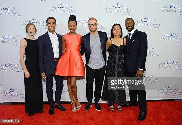 Princess Grace award winners Emilie Leriche Harper Watters Courtney Spears James Gregg Lani Dickinson and Babatunji Johnson attend the 2015 Princess...