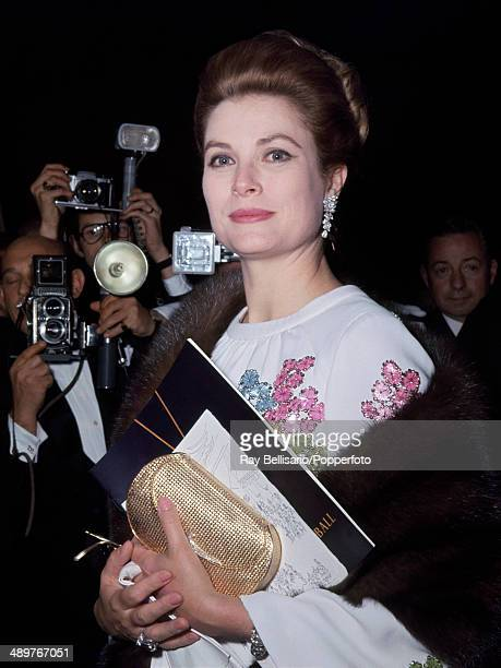 Princess Grace of Monaco arriving at a ball in Nice circa 1970