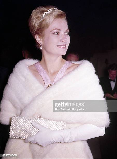 Princess Grace of Monaco arriving at a State Banquet in Dublin circa June 1961