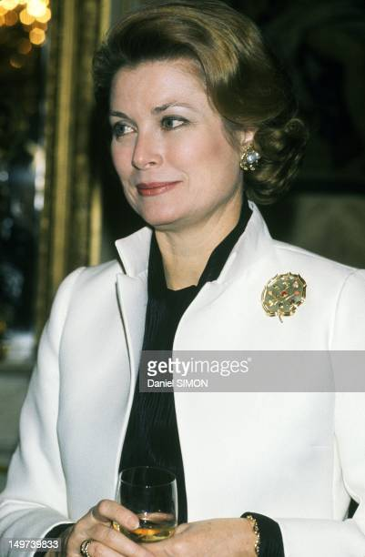 Princess Grace of Monaco at French Senate on March 19 in Paris, France.