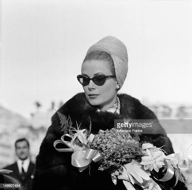 Princess Grace of Monaco at Karting Club opening on November 19, 1962 in Monaco.