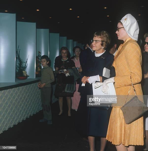 Princess Grace of Monaco at the Garden Club de Monaco in 1973