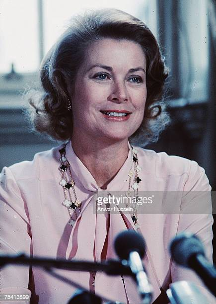 Princess Grace of Monaco attends a poetry reading in Edinburgh Scotland September 13 2007 is the 25th anniversary of the death of Princess Grace of...