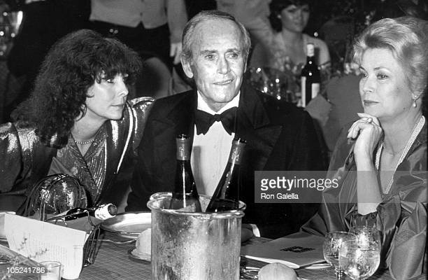 Princess Grace of Monaco Henry Shirlee Fonda during AFI Salute to James Stewart at The Beverly Hilton Hotel in Beverly hills California United States