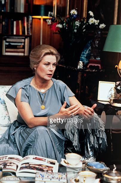 Princess Grace of Monaco poses at home in June 1981 in Paris Grace Kelly American born who married Prince Rainier III of Monaco in 1956 was a famous...