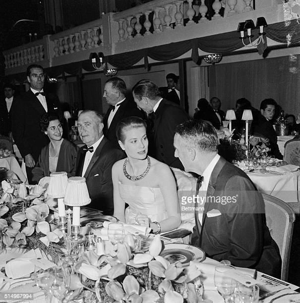 Princess Grace of Monaco shown at an Easter dinner in Monaco March 29th arrived here March 31st accompanied by her family and her family doctor The...