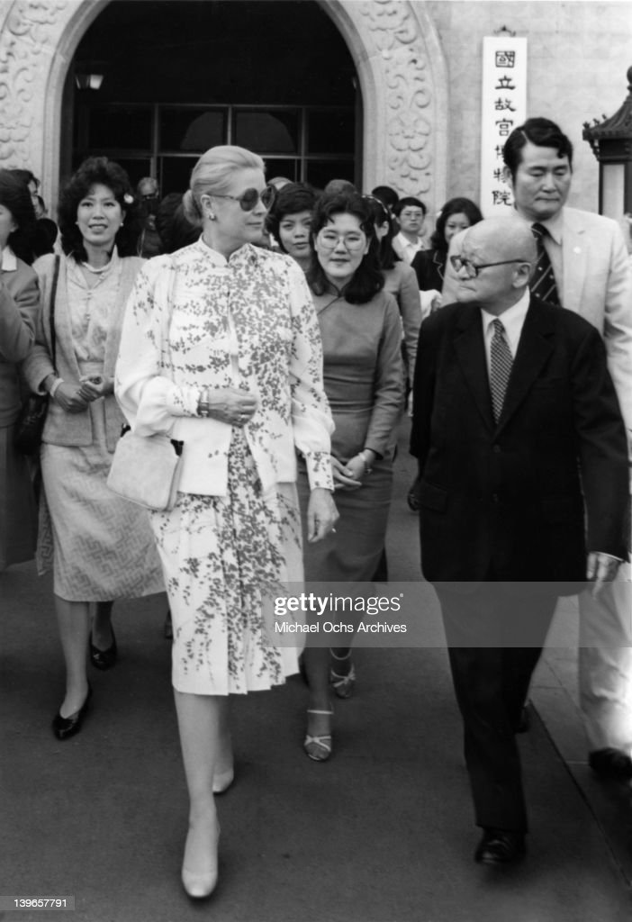 Princess Grace of Monaco visits the National Palace Museum near Taipei, in June, 1982 in Taiwan.