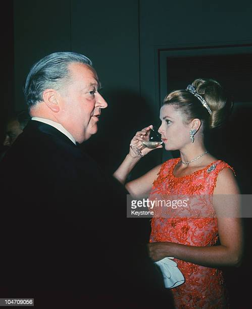 Princess Grace of Monaco with Lord Killanin honorary CounselGeneral for Monaco at Le Bal de Petits Lits Blancs held at Powerscourt in Enniskerry...