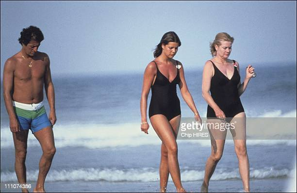 Princess Grace Princess Caroline and Philippe Junot in New Jersey United States in 1978