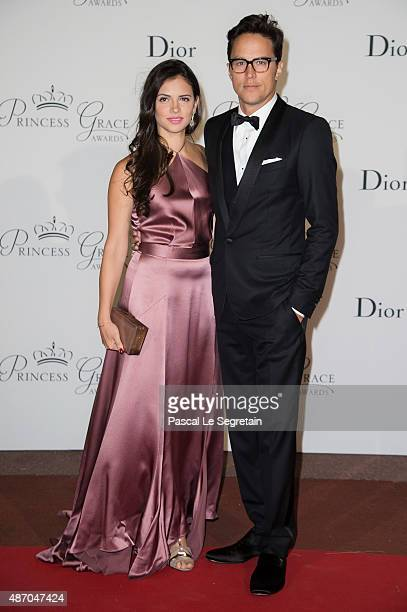 Princess Grace Statue Award Recipient Cary Fukunaga and Daniella Perez Lopez attend the 2015 Princess Grace Awards Gala With Presenting Sponsor...