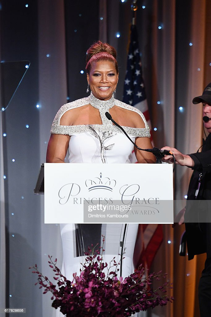 Princess Grace Statue Award Recipient Queen Latifah speaks onstage during the 2016 Princess Grace Awards Gala with presenting sponsor Christian Dior Couture at Cipriani 25 Broadway on October 24, 2016 in New York City.