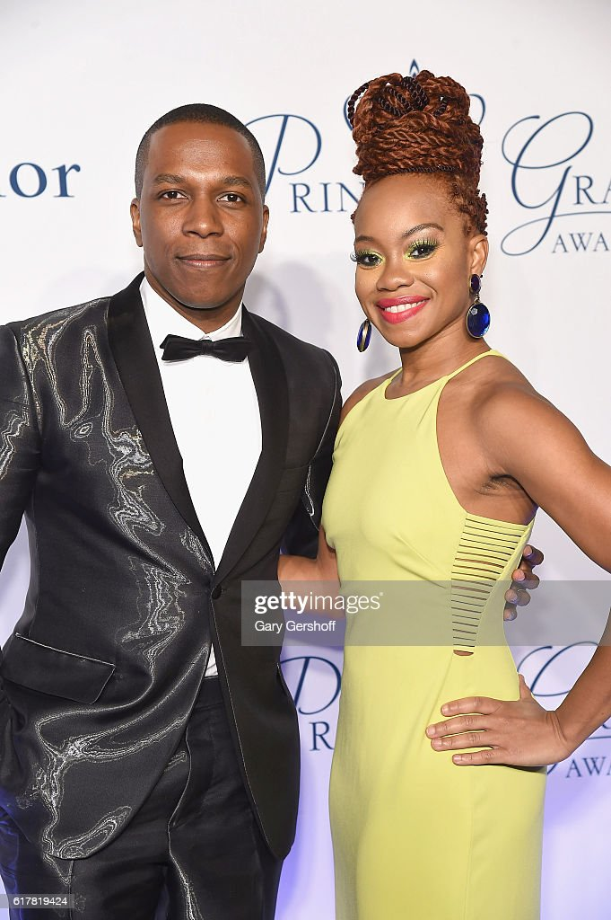 Princess Grace Statue award recipients, actor Leslie Odom Jr. and dancer/choreographer Camille A. Brown attend the 2016 Princess Grace Awards Gala at Cipriani 25 Broadway on October 24, 2016 in New York City.