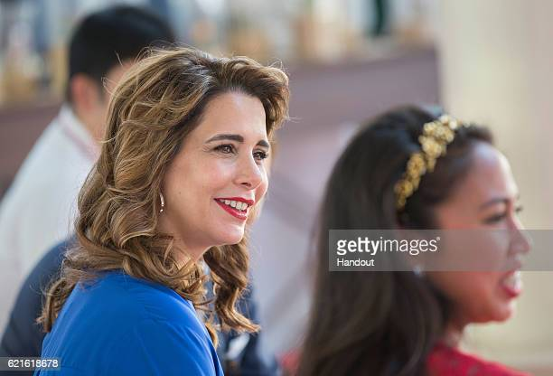 Princess Haya bent Al Hussein in her role as Patron attends the Cartier International Dubai Polo Challenge at Desert Palm Hotel on November 5 2016 in...